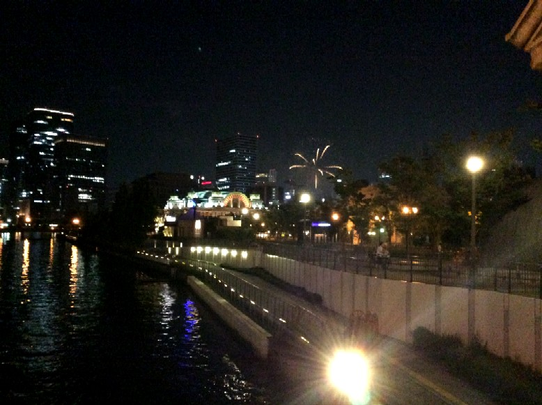 Fireworks Photo Kitahama Lion Bridge 北浜 ライオン橋淀川の花火写真