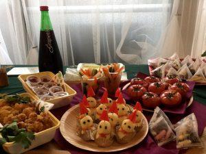 xmas event potluck party photo クリスマスイベント 持ち寄り料理 写真