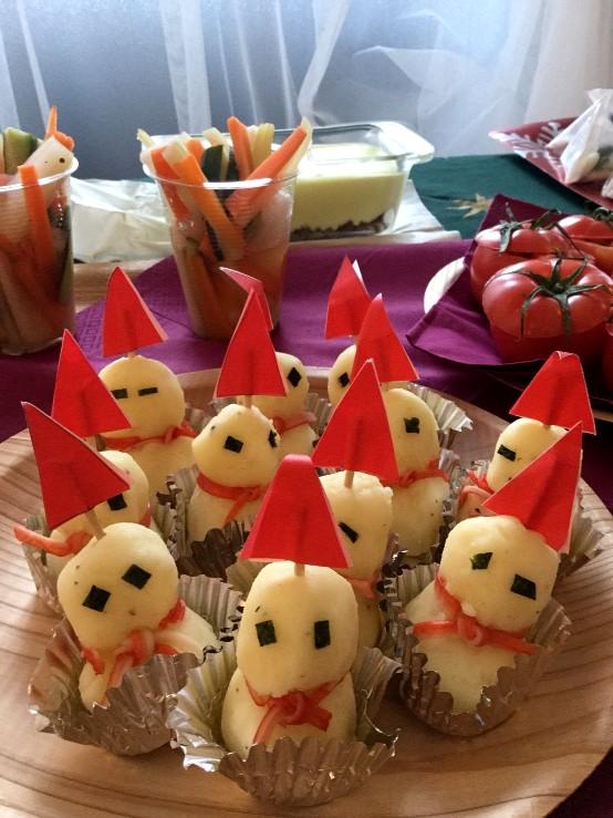 xmas event potluck party photo クリスマスイベント 持ちより料理 写真