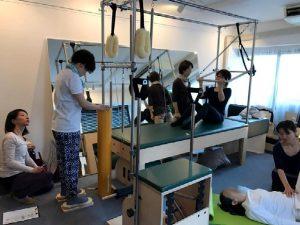 Pilates Equipment Machine Excecise Trial Footprints ピラティス マシン エクササイズ 体験会 フットプリント
