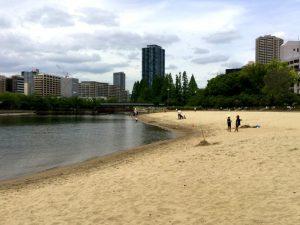 BeachPilates Nordic Walking ビーチピラティス ノルディックウォーキング 大川 桜ノ宮ビーチ 写真