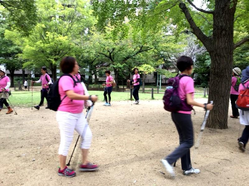 pinkribbon breast cancer pilates nordicwalking photo ピンクリボンイベント 乳がん ピラティス ノルディックウォーキング 写真