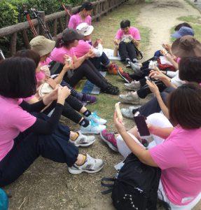 pinkribbon breast cancer pilates nordicwalking sweets age photo ピンクリボンイベント 乳がん ピラティス ノルディックウォーキング スイーツ エイジ 写真